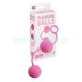 Pleasure szilikon gésagolyó - pink