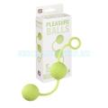 Pleasure szilikon gésagolyó - zöld